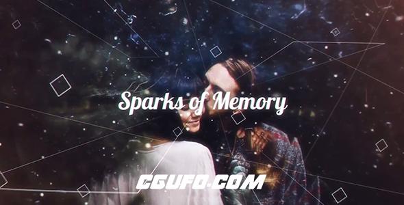 6300回忆图文展示动画AE模版,Sparks of Memory