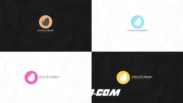 6303简洁logo演绎动画AE模版,Logo ident 1 – Minimalist Intro