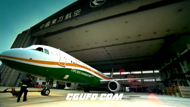 2108-上海飞机一组2高清实拍视频素材