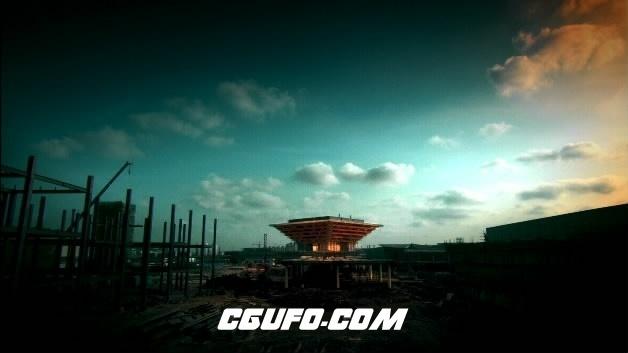 2110-上海镜头一组5(快速、带中国馆)高清实拍视频素材