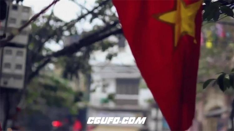 2186-越南地理人文生活城市建筑景色随手拍街景高清视频实拍