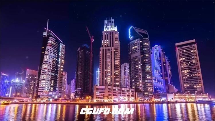 2200-昼夜交替城市建筑发展美丽灯光夜景时间流逝高清视频延时实拍