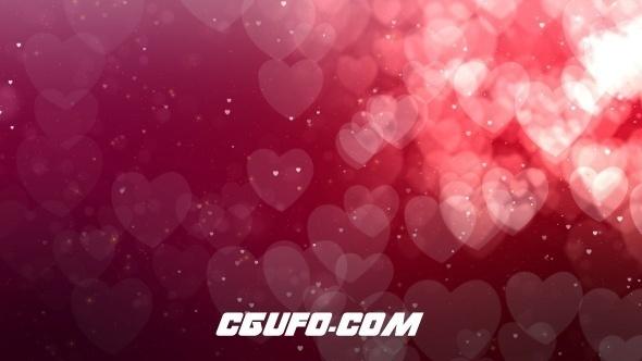 149爱情婚礼心形动态背景高清视频素材