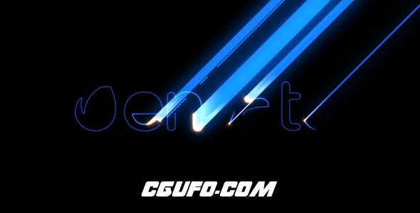 6321霓虹灯文字描边动画AE模版,Minimal Laser – Hi-Tech Logo Reveal