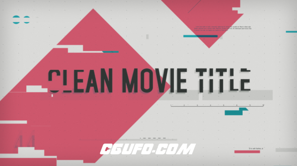 6341简洁图片文字标题动画AE模版,Clean Movie Title