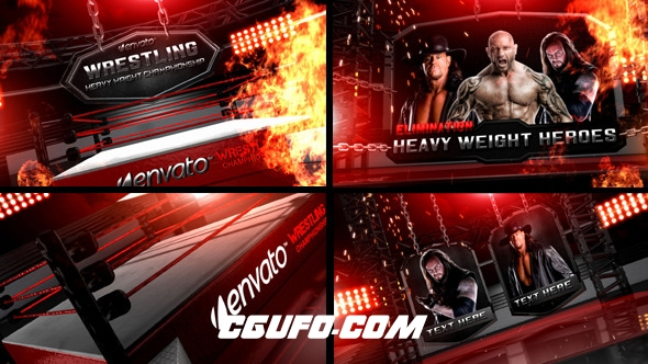 6355大气举重类电视栏目包装动画AE模版,Wrestling Heavy Weight Champhionship