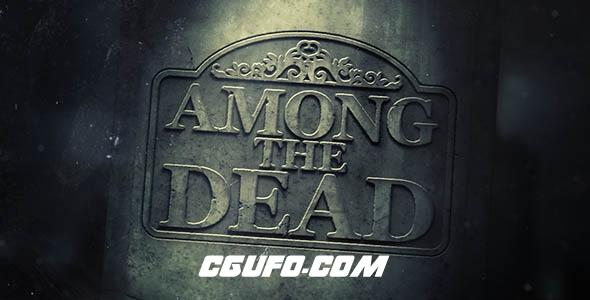 6358墓碑特效动画AE模版,Among The Dead