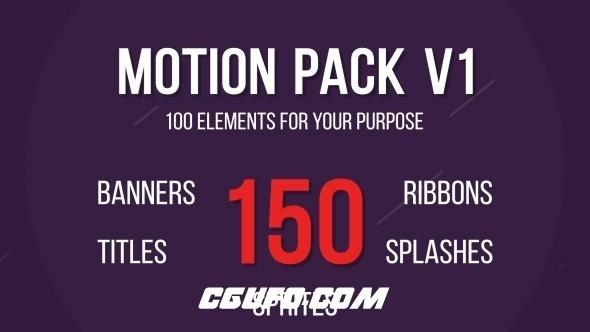 6367-150组创意MG动画AE模版,Motion Design Package