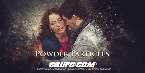 6381能量粒子图片展示动画AE模版,Powder Particles