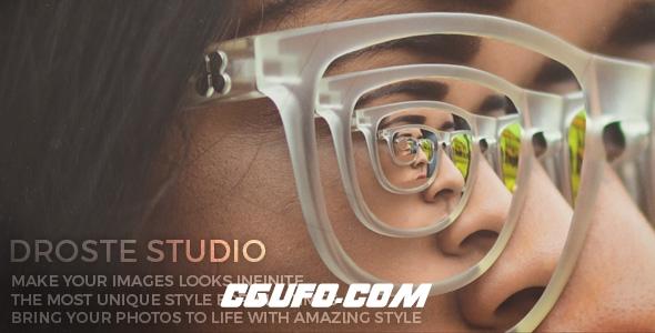 6383画中画相框镜头无限循环特效动画AE模版,Droste Studio