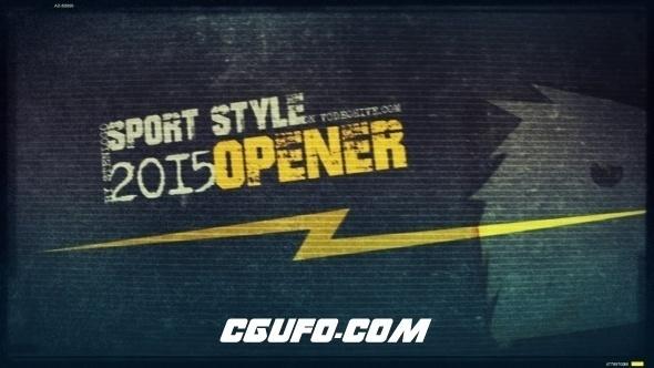 6399激情体育宣传片视频展示片头AE模版,Sport Style Opener