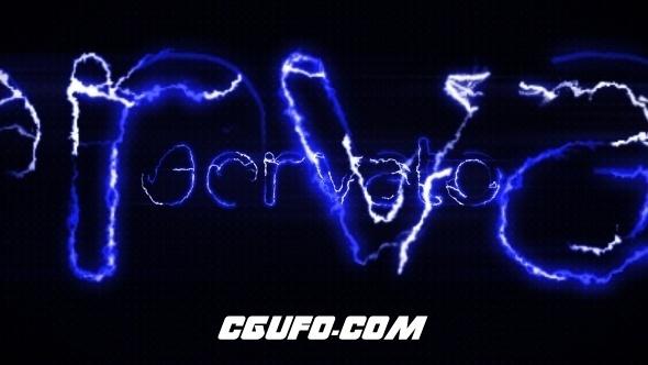 6404光电logo演绎动画AE模版,Electric Logo Opener