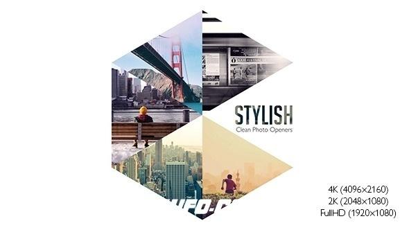 6417图片开场分屏动画AE模版,Stylish Photo Openers – Logo Reveal