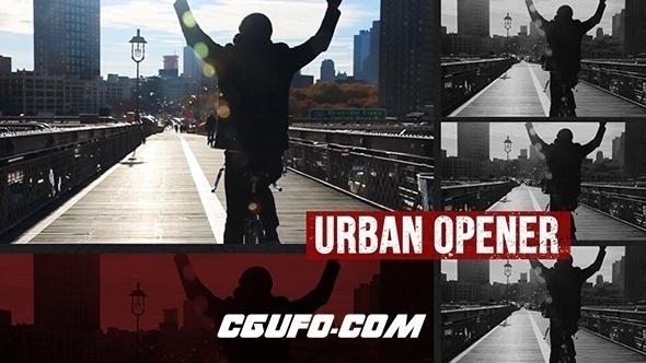 6425城市宣传片包装开场动画AE模版,Dynamic Urban Opener