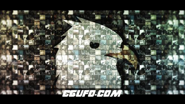 6437多视频汇聚logo演绎动画AE模版,Multi Video Logo V2