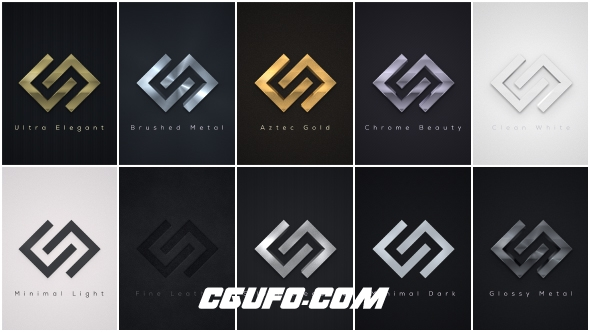 6439简洁大气logo演绎动画AE模版,Elegant Logo Reveals Pack 2