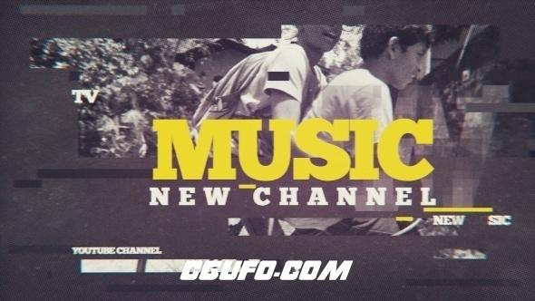 6445音乐类电视节目包装动画AE模版,Music Channel