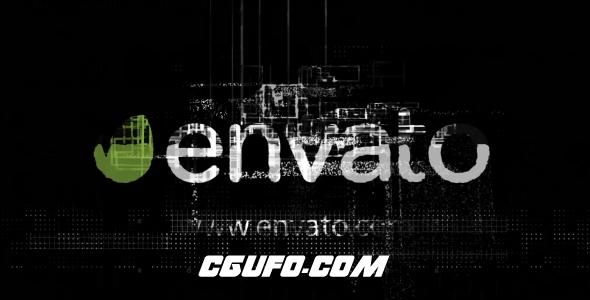 6448数字科技logo演绎动画AE模版,Digital Logo Reveal 3 in 1