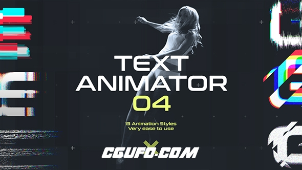 6450干扰文字特效动画AE模版,Text Animator 04: Motion Glitch Titles