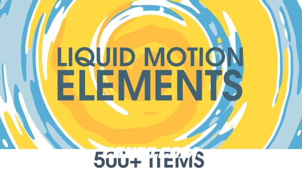 6454-500+流体液体MG动画特效动画AE模版,Liquid Motion Elements