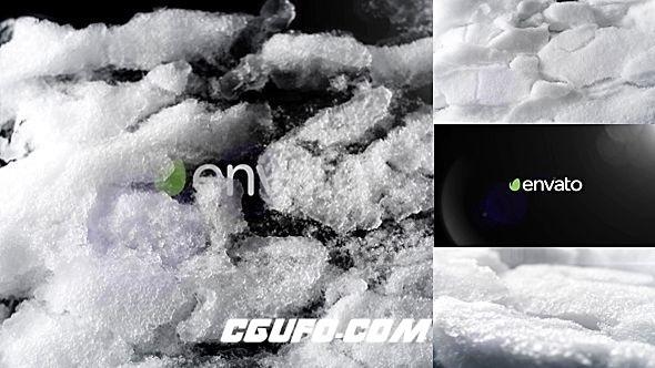 6457白雪融化logo演绎动画AE模版,Logo Snowbreak