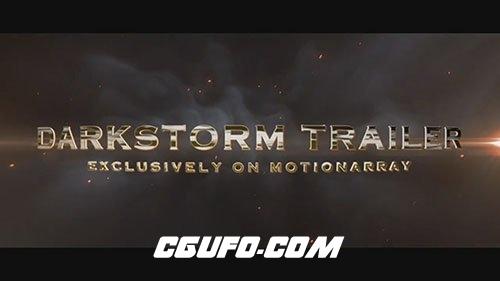 6468电影预告片文字特效动画AE模版,Darkstorm Trailer