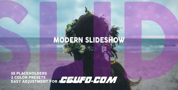 6477时尚文字标题图片切换片头动画AE模版,Modern Dynamic Slideshow