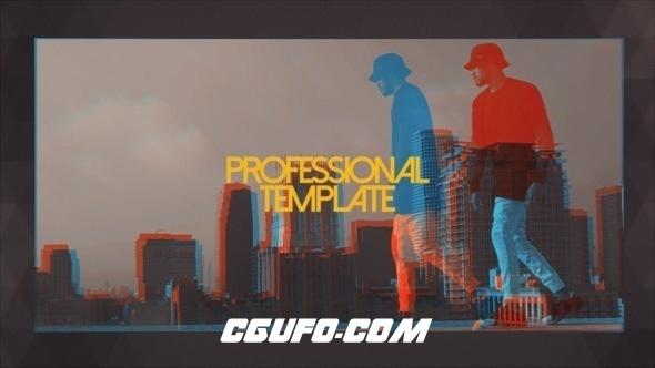 6480文字图片视频滑动包装片头动画AE模版,Backstage Promo