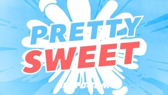 6483-300组手绘卡通炫酷流体转场文字标题MG动画元素AE模版,Pretty Sweet – 2D Animation Toolkit
