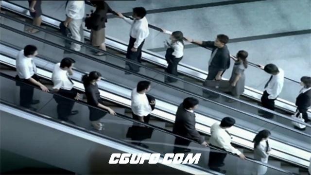 2361城市生活快节奏商务办公场景携手共进企业商业发展高清视频延时实拍