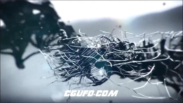 2364抽象夸张汽车变形碎片飞散汇聚智能科技汽车宣传高清视频实拍