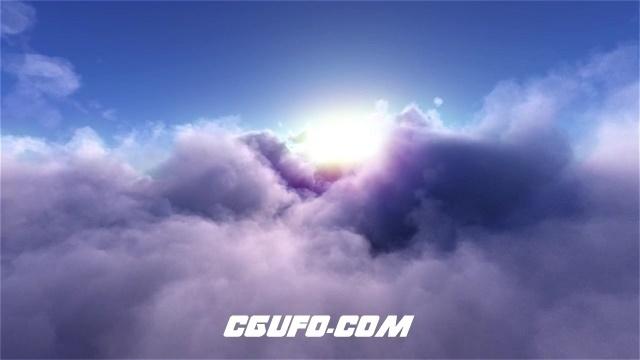 2367大气高空云端穿梭云朵视觉冲击镜头移动梦幻效果高清视频实拍