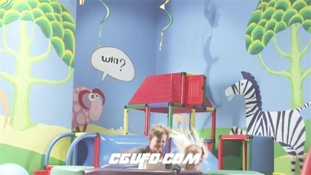 2377儿童欢乐游乐场玩耍骑车跳床愉快欢笑情景高清视频实拍