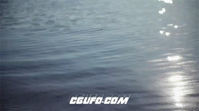2438-沙滩海边海水荡漾反映太阳实拍高清视频素材