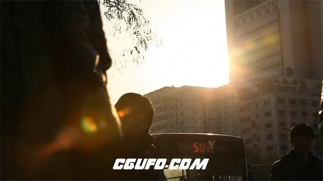 2445-日落晚霞上班族下班回家步行镜头特写高清视频实拍