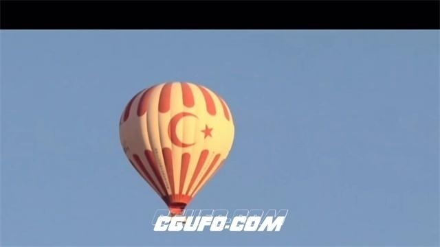 2511-唯美风土地貌传统工艺品热气球飞翔高空意境画面高清实拍视频素材