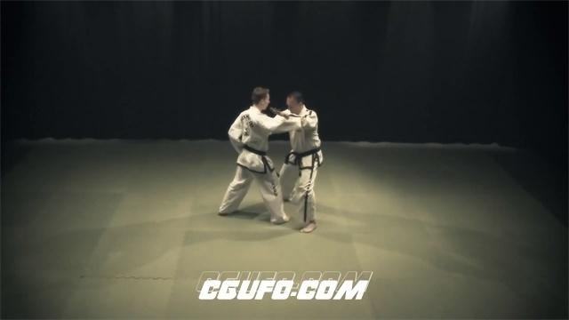 2516-跆拳道格斗武术表演展示高清实拍视频素材