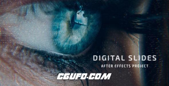 6499数字科技感幻灯片展示片头动画AE模版,Digital Slides