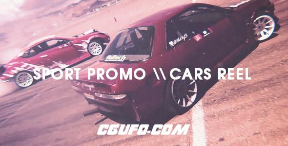 6500赛车体育包装宣传片动画AE模版,Sport Promo – Cars Reel