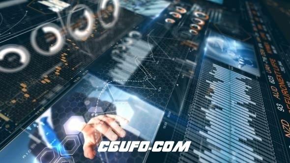 6508公司企业HUD风格包装动画AE模版,Corporate Finance HUD Pack and Opener