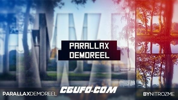 6512文字视频宣传片头开场动画AE模版,Parallax Demo Reel