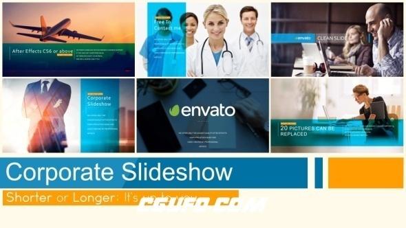 6539公司企业图文宣传动画AE模版,Corporate Slideshow