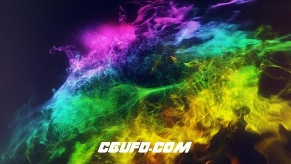 6662能量环logo演绎动画AE模版,Colors Of Circles Logo Reveal