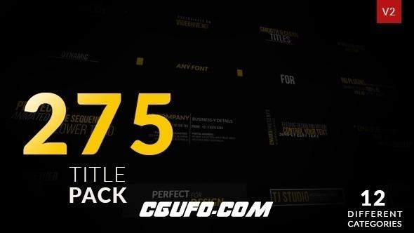 6572-275组标题文字特效动画AE模版,Titles