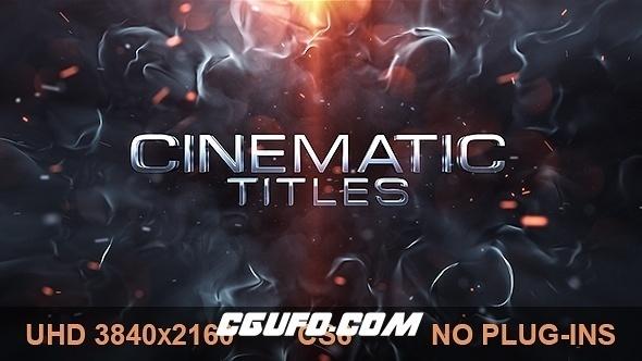 6486电影级文字标题特效动画AE模版,Cinematic Titles