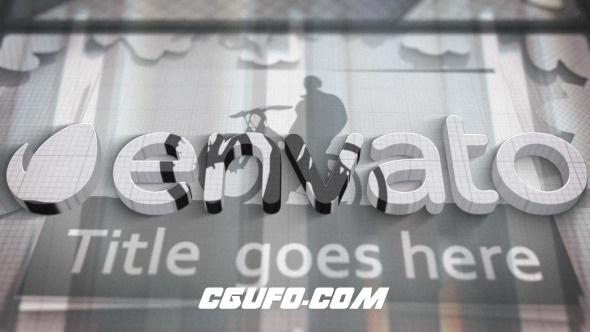 6593简洁logo演绎动画AE模版,Stylized Logo Reveal