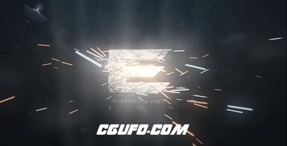 6598大气金属火花logo演绎动画AE模版,Logo Sparks