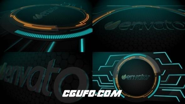 6603黑暗大气logo演绎动画AE模版,Modern Dark Logo