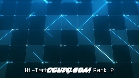 6604高科技动态背景高清视频素材,Hi-Tech Backgrounds Pack 2