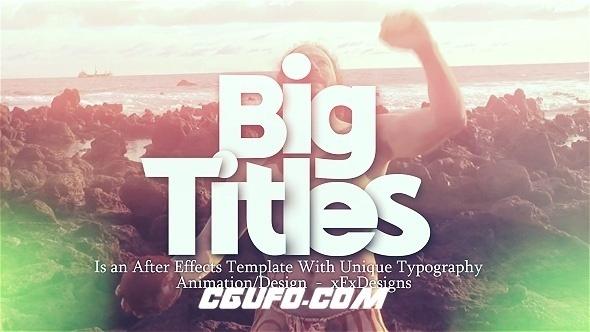 6624文字图片标题动画AE模版,Big Titles Motivational Opener
